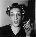 a young man in curlers at home on west 20th street n y c 1966