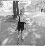 child with toy hand grenade in centeral park n y c 1962