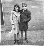 Teenage couple on Hudson Street  N.Y.C. 1963