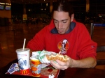 Oded Eating McDonalds
