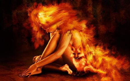 Drawn_wallpapers_Painted_girls_Fire_fox_girl_011332_