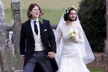 Ros Leslie and Kit Harrington, who play Ygritte and Jon respectively